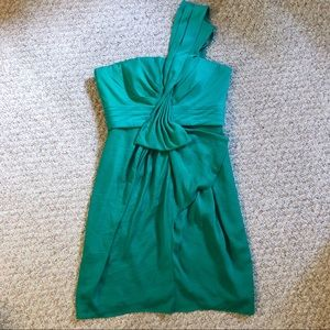 green bcbgmaxazria cocktail dress